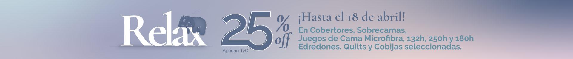 Promoción 25% en ropa de cama seleccionada